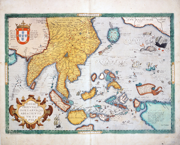 a66b55db3d68d Map of Asia by Abraham Ortelius(National Museum of Japanese History)